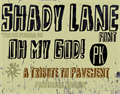 Illustration of font Shady Lane