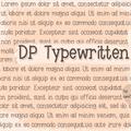 Illustration of font DPTypewritten