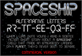 Illustration of font CF Spaceship