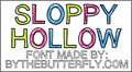 Illustration of font SloppyHollow