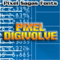 Illustration of font Pixel Digivolve