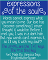 Illustration of font expressions of the soul