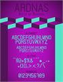 Illustration of font Ardnas