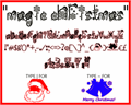 Illustration of font Magic Christmas