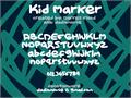 Illustration of font Kid Marker