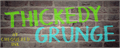 Illustration of font Thickedy Grunge