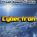 Illustration of font Cybertron