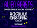 Illustration of font Alien Beasts