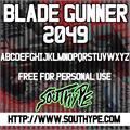 Illustration of font Blade Gunner 2049 St