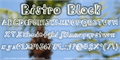 Illustration of font BistroBlock