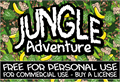 Illustration of font CF Jungle Adventure