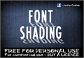 Illustration of font CF Font Shading