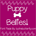 Illustration of font PuppyBellies