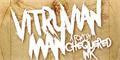Illustration of font Vitruvian Man