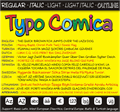 Illustration of font Typo Comica