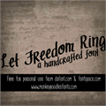 Illustration of font MRF Let Freedom Ring