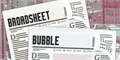 Illustration of font Broadsheet Bubble