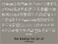 Illustration of font PeaxDrawnIcons