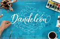 Illustration of font Dandeleon Vintage Demo