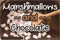 Illustration of font Marshmallows and Chocolate