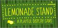Illustration of font Lemonade Stand