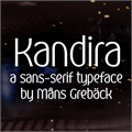 Illustration of font Kandira PERSONAL