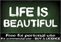 Illustration of font CF Life is beautiful