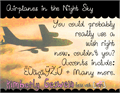 Illustration of font Airplanes in the Night Sky