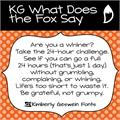 Illustration of font KG What Does the Fox Say