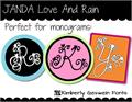 Illustration of font JANDA Love And Rain