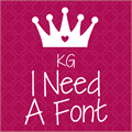 Illustration of font KG I Need A Font