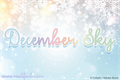 Illustration of font December Sky Font
