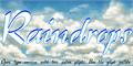 Illustration of font Raindrops