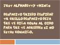 Illustration of font Just Alphabetty Thing!