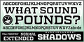 Illustration of font WHAT SOUND POUNDS?