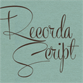 Illustration of font Recorda Script Personal Use Onl