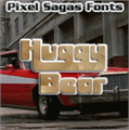 Illustration of font Huggy Bear
