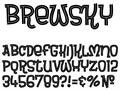 Illustration of font Brewsky