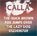 Illustration of font Calla Personal Use Only