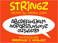 Illustration of font Stringz
