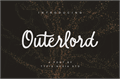 Illustration of font Outerlord