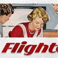 Illustration of font Flighter PERSONAL USE ONLY
