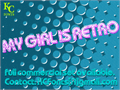 Illustration of font My Girl Is Retro