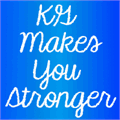 Illustration of font KG Makes You Stronger