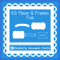 Illustration of font KG Flavor and Frames Five