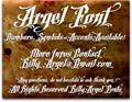 Illustration of font Argel Font