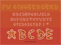 Illustration of font PWGingerbread