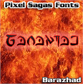 Illustration of font Barazhad