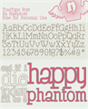 Illustration of font Happy Phantom