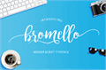 Illustration of font bromello